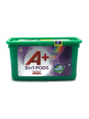 Ariel 3in1 Pods Color & Style 38бр. Капсули за Пране.
