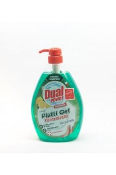 Dual Power Piatti Gel Cobcentrato Limone 1л. Препарат за почистване на домакински съдове