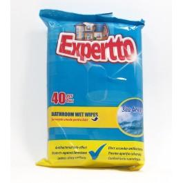 Expertto Антибактериални кърпички за баня 40бр.
