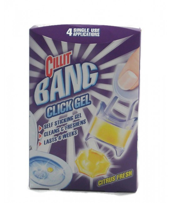 Cillit Bang Click Gel Citrus Fresh 4бр. Гел Дискове за WC