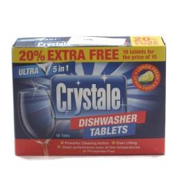 Crystale Dishwasher Tab 18бр. Таблетки за съдомиялна машина