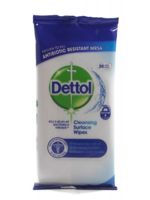 Dettol Cleansing 20бр. Мокри кърпи