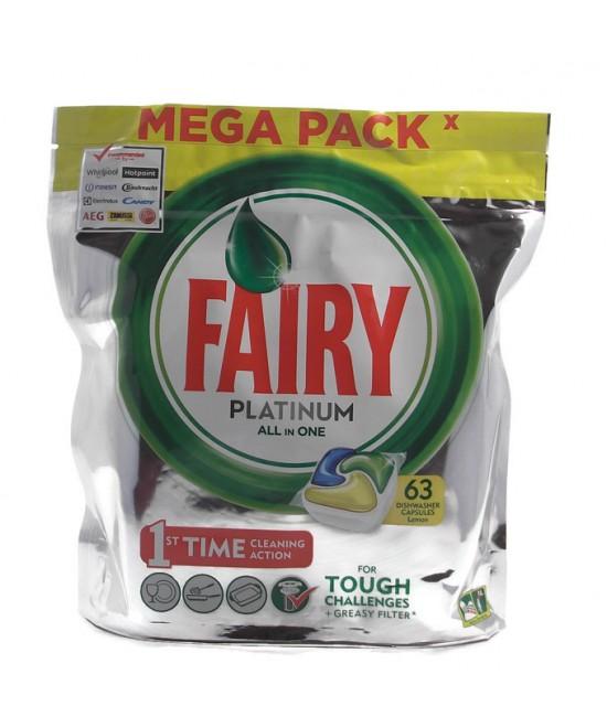 FAIRY Platinum All In One 63бр. Таблетки за съдомиялна машинa