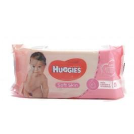 HUGGIES Soft Skin 56бр. Мокри кърпи