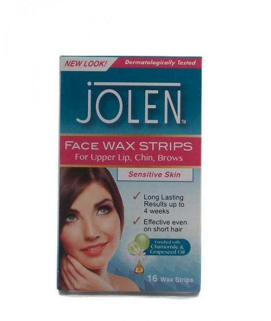 Jolen Face Wax 10бр. Восъчни ленти за депилация на лице