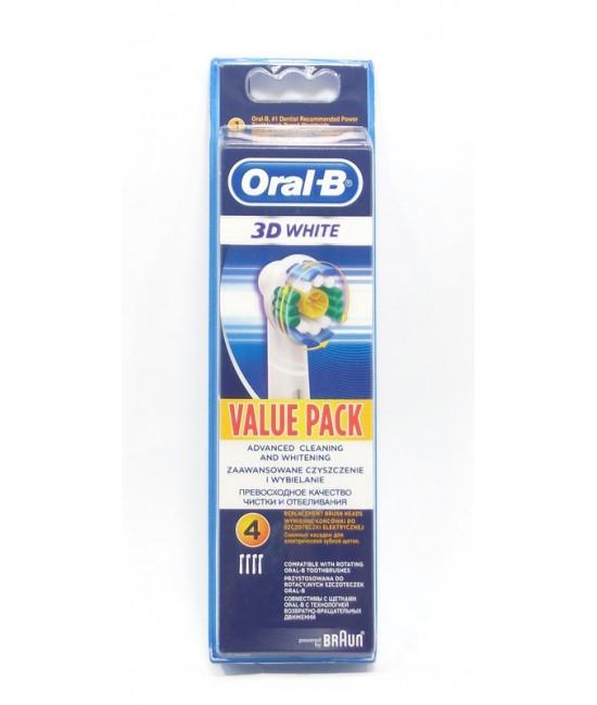 Oral B 3D White Глави за Ел.четка за зъби 4бр.